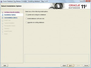 Oracle 11g Database Installation:Pic 2