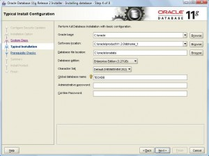 Oracle 11g Database Installation:Pic 3