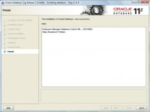 Oracle 11g Database Installation:Pic 7
