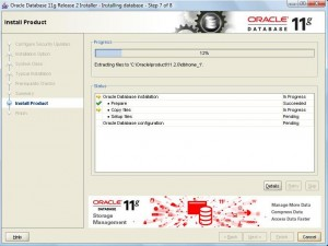 Oracle 11g Database Installation:Pic 5