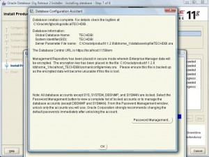 Oracle 11g Database Installation:Pic 6