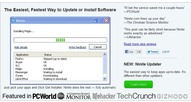 Ninite Software Updater